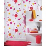 1009315 Spirella Штора для ванной комнаты Tex TONIC-розовая 200х180 см