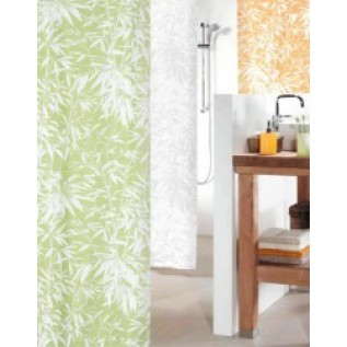 1011646 Штора для ванны 180x200 см текстильная абрикос Spirella BALI