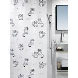 1014436 Spirella Штора для ванной комнаты Peva GARY серая 200х180 см