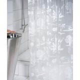 1031544 Spirella штора для ванной комнаты Vin RIFF Bl белая 180 х 200 см