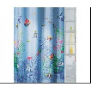 1032648 Штора для ванной комнаты Tex(BARBADOS), 200х180 см