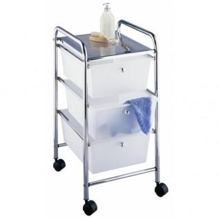 Этажерка Messina для ванной комнаты 3-х ярусная на колесах