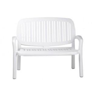 Скамья пластиковая белая, Lipari, Nardi