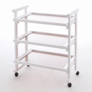 Столик сервировочный на колесиках GREGORY BIANCO (белый)