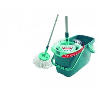 Комплект для уборки Leifheit: швабра-моп и ведро с механизмом отжима 52019