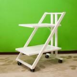 Стол сервировочный на колесиках SIMPATY BIANCO (белый)