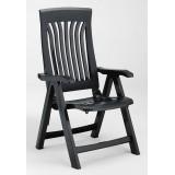 Кресло пластиковое складное Nardi Flora, антрацит