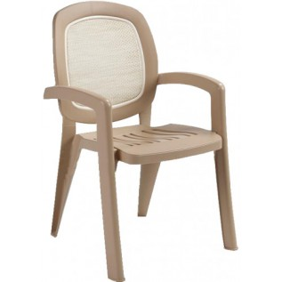 Кресло пластиковое Nardi GAMMA бежевое, вставка beige