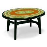 Ovolone 1500 зеленый рыжая мозаика стол