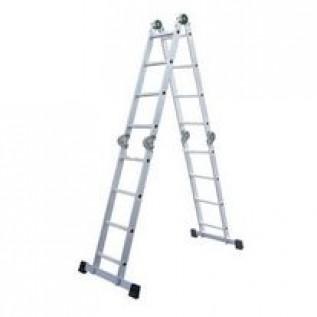 Лестница -трансформер четырехсекционная алюминиевая 4 х 5 ступеней