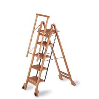Стремянка деревянная складная BIBLIO 5