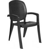 Creta антрацит вставка Wicker кресло