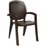 Кресло пластиковое Nardi Creta кофе, вставка wicker