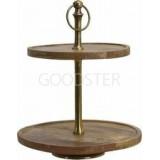 Этажерка для пирожных, фруктов, закусок MANGO, дерево, металл, 36х35 см, Koopman International A54406130