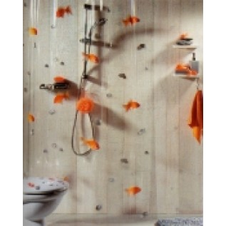 1000097 Spirella Штора для ванной комнаты VIN GOLDFISH 200х180 см