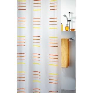 1006690 Spirella Штора для ванной комнаты Peva GIL-оранжевая 200х180 см