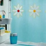 1008977 Spirella Штора для ванной комнаты Peva Springtime-синяя 200х180 см