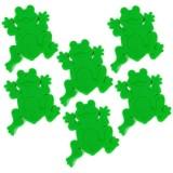 1009695 Jeunesse Frogtime Напольный декор Spirella для ванной комнаты ПВХ лягушка-зеленая 6 шт