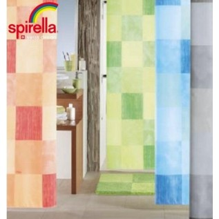 1010687 Spirella Штора для ванной комнаты Tex Tuscany-серая 200х180 см