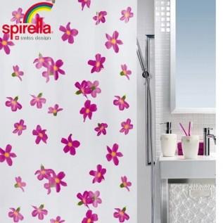 1014428 Spirella Штора для ванной комнаты Peva BESSY розовая 200х180 см