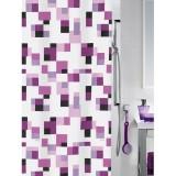 1014600 Spirella Штора для ванной комнаты Tex PIXEL пурпурная 200х180 см