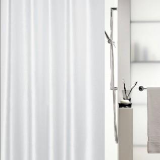 1015636 Spirella Штора для ванной комнаты Tex SHINE белая 200х180 см