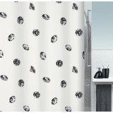 1016403 Spirella штора декоративная для ванной комнаты Tex Crystal светло-серая 180 х 200 см