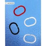 1040075 Кольца для штор Spirella C-MINOR белые 12шт