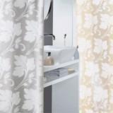 1011986 Spirella Штора для ванной комнаты Tex DAMASK-серая 200х180 см