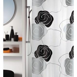 1008388 Spirella Штора для ванной комнаты Tex Lady-черная 200х180 см