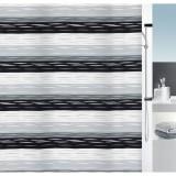 1015188 Spirella Штора для ванной комнаты Tex TALIO серо-черная 200х180 см