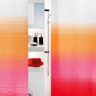 1011681 Spirella Штора для ванной комнаты TEХ CAMERON- красно-оранжевая 200х180 см