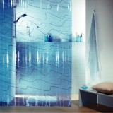 1004109 Spirella Штора для ванной комнаты Vin Pool-синяя 200х180 см
