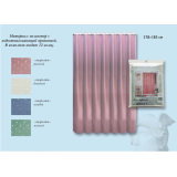 Занавеска NIKLEN для ванной с кольцами 100% полиэстер 178х183 см