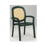 Sistina зеленое вставка Rattan кресло