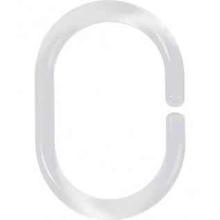 1040076 Кольца для штор Spirella C-MINOR прозр 12шт
