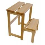 Табурет-Стремянка складная деревянная Step-2