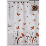 Штора для ванной 3D Valiant Бабочки, цвет коричневый, 180 см х 180 см