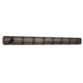 крючки, держатели, вешалки Umbra Вешалка настенная Flip, 81.3 см, металл/дерево, орех