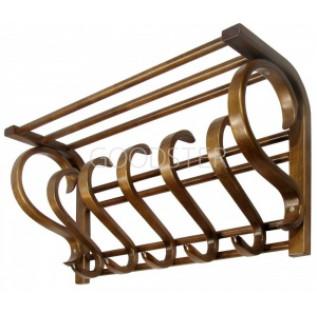 Настенная вешалка Мебелик В-5Н (настенная) Коричневое дерево