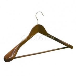 Вешалка плечики для одежды деревянные, ширина 460мм, с перекладиной. - MD-H6-55