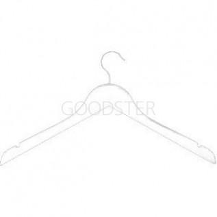 Вешалка плечики для одежды деревянные, ширина 450мм, цвет белый. - MD-P-66 NB