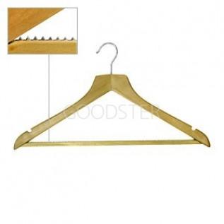 Вешалка плечики для одежды деревянные, с перекладиной, ширина 450мм, цвет светлое дерево. - MD-WS 010
