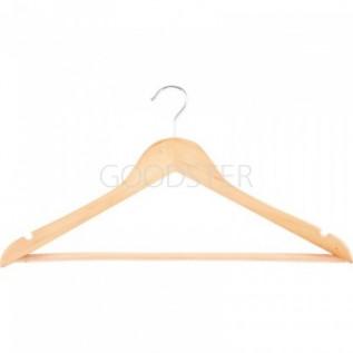 Вешалки плечики для одежды Китай Elfe деревянная с выемками, размер 48-50, 5 шт., 671940