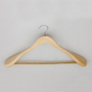 Вешалка плечики для одежды деревянная с перекладиной зимняя, 440мм, размер одежды: 44-46(М). - C30-5D-SHM003-9714J