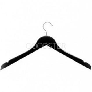 Вешалка плечики для одежды деревянные, ширина 450мм, цвет черный. - MD-P-66 NB-b