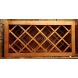 Деревянный стеллаж для 13 бутылок вина. Полка винная 76x38x30см