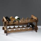 Стеллаж винный 'Рустик', 70 х 25 30 см, массива дуба